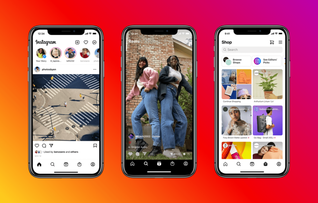 Preview of New Instagram Home Page